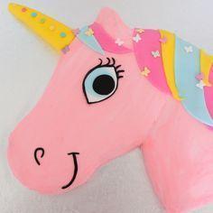 how to make an easy unicorn birthday cake! #baking #kids #parties