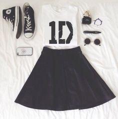 Skater rok zwart