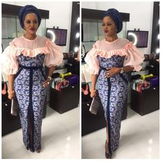 Top Classic Aso Ebi styles 2018 from Diyanu - Ankara Dresses, Shirts & Aso Ebi Lace Styles, Lace Gown Styles, Ankara Dress Styles, African Wear Dresses, African Attire, Nigerian Lace Styles, Ankara Gowns, African Fashion Designers, African Fashion Ankara