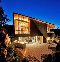 Modern mountainside home in Whistler designed by BattersbyHowat Architects