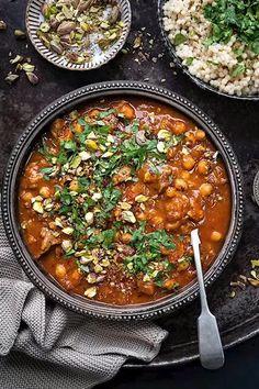 Basic Mashed Potatoes, Mashed Potato Recipes, Lamb Recipes, Dinner Recipes, Healthy Recipes, Puy Lentil Recipes, Healthy Foods, Lamb Tagine With Apricots, Moroccan Lamb Tagine
