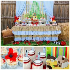 rainbow/wizard of oz party via classy clutter