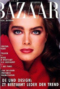 Brooke Shields covers Harper's Bazaar Germany, 1985.