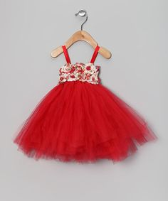 {Red & White Vintage Rose Dress by Enchanted Fairyware Couture}