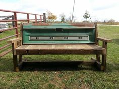 Tailgate Bench by Weathered and Rusted. Check us out on Facebook!