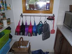 Lunch Box Storage - great! would need to be higher up to avoid any puppy snatchings
