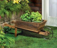 Carretilla de jard n en pinterest carretilla plantador for Carretillas para jardin