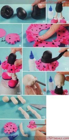 Lovely tutorials. girl figurine sculpting tutorial