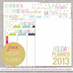 The House on Hillbrook: FREE HOLIDAY PLANNER