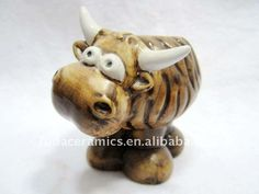 ceramic cow ornament