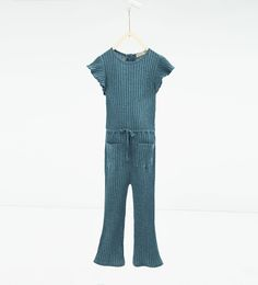 Ribbed jumpsuit with frills-今週の新商品-ガール (4 - 14歳)-NEW COLLECTION | ZARA 日本