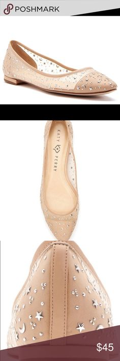 Katy Perry Selena flats Katy Perry Selena flat twinkle twinkle little star and moon These fine mesh flats are sole essential size 8 worn once they are on sale for 69.99 at Dillard's originally 100.00 Katy perry Shoes Flats & Loafers