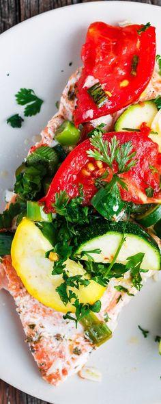 Mediterranean-Style Oven Baked Salmon Recipe| The Mediterranean Dish ...