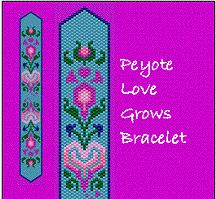 Peyote Love Grows Bracelet