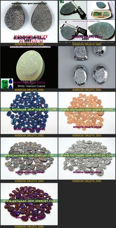 Nautal Titanium Coated Window Druzy Agate Cabochan Drusy gemstones Available at Direct wholesale Factory prices 14 from nathaan-gem-jewelry