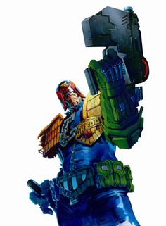 Probably one of the coolest pieces of Judge Dredd art I've ever seen. This one's by Jock.