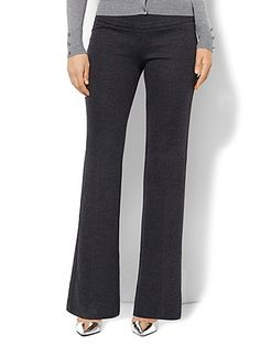 Shop 7th Avenue Bootcut Pull-On Pant - Birdseye Pattern. Find your perfect size online at the best price at New York & Company.