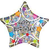 Funky Happy Birthday Balloon Helium Dogsuppliesguildford