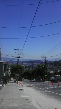 PG has our street torn up. It's the first tune I havent seen cars parks everywhere. Strange site in San Francisco!