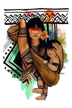 20 Ideas Painting Indian Inspiration For 2019 Arte Latina, Mother Art, Poster S, Mexican Art, Native American Art, Art Forms, Female Art, Tatoos, Nativity