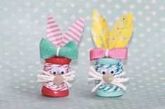 Dollar Store Crafts » Blog Archive » Tutorial: Easter Bunny Decor from Wood Spools