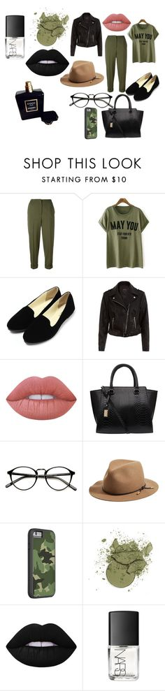 """Green"" by mirela-r13 on Polyvore featuring Alexander McQueen, Lime Crime, rag & bone, NARS Cosmetics and Chanel"