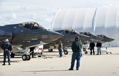 The first F-35C taxis in to a full stop for the first time at NAS Patuxent River, Maryland, on 6 November 2010 after ferrying from Fort Worth, Texas. The pilot is David Nelson.