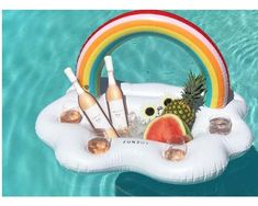 Hawaiian Luau Summer Pool Party Life of the Party Kit for Two 6 Piece Topical Party Set with Flamingo and Palm Tree Flashing LED Necklaces Can Cooler Beverage Holders and 4 Flashing Ice Cubes