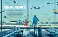Chicago airports on Behance