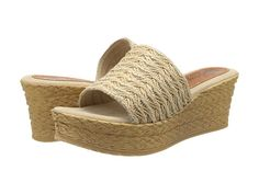 Sbicca Bungalow Woven Espadrille Wedge Slide fabric natural 3h sz7 64.99 3/16