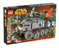 LEGO Star Wars Clone Turbo Tank by LEGO. $425.98. Step-by-step diagram details model construction. Mace Windu's lightsaber lights up. Detailed set features a working suspension so the Clone Turbo Tank can handle tough terrain. Includes 3 Clone Troopers, Kashyyyk Trooper, 2 Battle Droids, Aerial Trooper and Mace Windu. 801 pieces. From the Manufacturer                Help Mace Windu defend the Jedi Knights! Here comes the massive clone turbo tank, flanked by the swift BARC ...