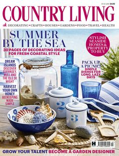 Country Living magazine July 2015 cover countryliving.co.uk