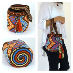 Wayuu Bag Models – Türkan Aslan Karataş – Join the world of pin Tapestry Crochet Patterns, Crochet Stitches, Knit Crochet, Crochet Handbags, Crochet Purses, Mochila Crochet, Tapestry Bag, Single Crochet Stitch, Boho Bags