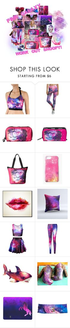"""must - have - pink - galaxy - work - out - snoopy!!!"" by caroline-buster-brown ❤ liked on Polyvore featuring Hot Topic, LeSportsac, Missguided and Converse"