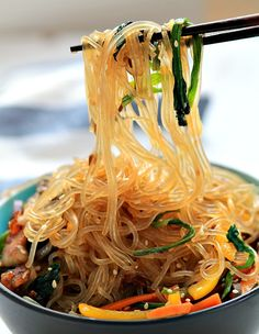 Japchae / Korean Stir-Fried Noodles