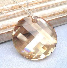 Swarovski Golden Shadow Checkerboard Crystal by JewelryJust4You, $40.00