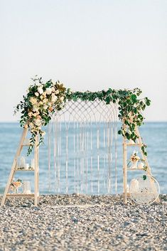 39 Gorgeous Beach Wedding Decoration Ideas ❤ beach wedding decoration floral macrame wedding arch #weddingforward #wedding #bride
