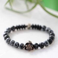 Darth Vader Bracelet-Star Wars Jewelry-Natural Stone Bracelet-Gemstone Man Bracelet-Gift for Him - Gemstone Bracelet - Black Bracelet by NAUTILUSCONCEPT on Etsy