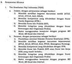 REKRUTMEN / PENERIMAAN PKHI 2017 / 1438 H (Petugas Kesehatan Haji Indonesia) | INFO LOWONGAN KERJA 2017