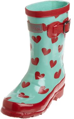 Would your daughter love to have these heart themed rubber boots from Hatley for Valentine's Day?