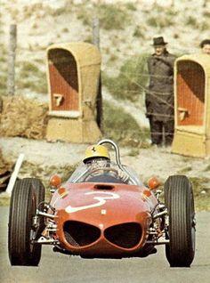 Ricardo Rodriguez in his Ferrari 156 at the Dutch Grand Prix 1961