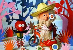 The Magic Roundabout: Zebedee & Mr McGregor Vintage Movies, Old Movies, Vintage Kids, Kids Tv Programs, Magic Roundabout, 80s Kids, Cute Little Things, My Childhood Memories, Psychedelic Art
