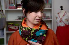 DIY Anleitung: Schlauchschal nähen // fashion diy: how to sew a Loopscarf via DaWanda.com