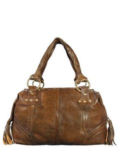 Silvio Tossi Vintage Leather Stitched Purse With Tassel Detail