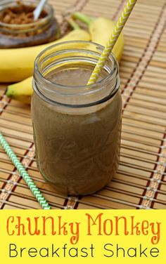 This chunky monkey breakfast shake is filled with an abundance of nutrients, protein and healthy fats that will keep you full and energized for hours!