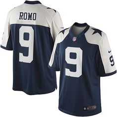 2473c39c1 ... Nike Limited Tony Romo Navy Blue Mens Jersey - Dallas Cowboys 9 NFL  Throwback Alternate ...