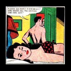 Don't flatter yourself mate. #vintagecomics #funnycomics #romancecomics #ineedoxygen by somevelvetmorningx