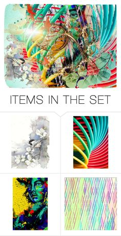 """Abstract Light"" by beanpod ❤ liked on Polyvore featuring art"