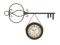 "Outstanding Metal Wall Clock 32""""W 17""""H"