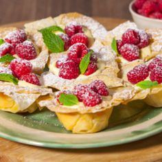 Lemon, Raspberry and Mascarpone Filo Tartlets - These beautiful refreshing tarts will hit the spot in any crowd - made with Jus-Rol's filo and ready in under 30 minutes.